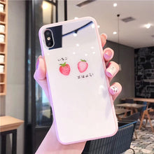 画像をギャラリービューアに読み込む, Fashion Cute Summer Fruit Strawberry Mirror Case For iPhone Series