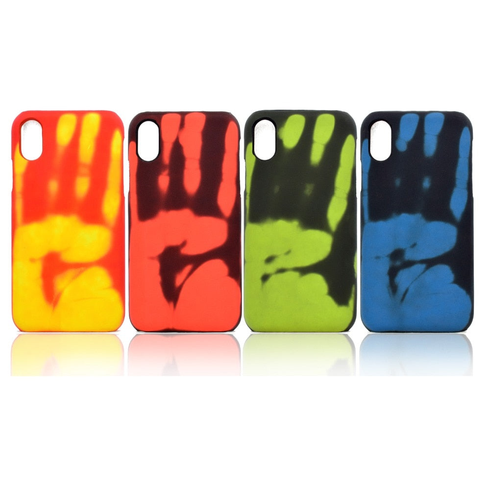 Fashion Temperature Sensing Discoloration Color Case For iPhone Series