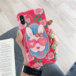 Fashion Artistic Garden Pastoral Style Case with Holder For iPhone Series