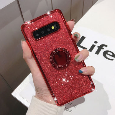Luxury Plating Diamond Case with Holder For Samsung Galaxy Series
