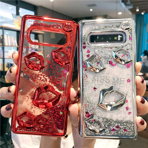 Glitter Quicksand Fashion Sexy Lip Case For Samsung Galaxy Series