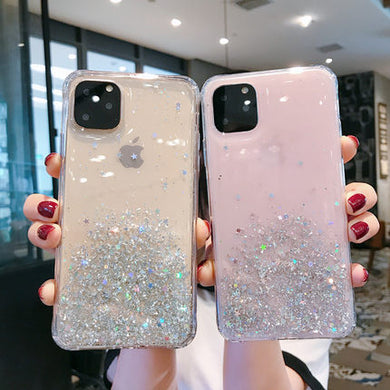 Glitter Quicksand Bling Transparent Case For iPhone 11 Pro Max