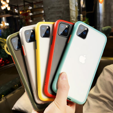 Fashion Transparent Matte Shockproof Case For iPhone Series