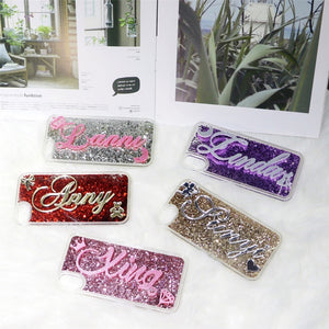 Glitter Luxury Unique Custom Name Letter Case For iPhone Series