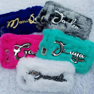 Luxury Unique Custom Name Fur Case For iPhone & Samsung Galaxy Series