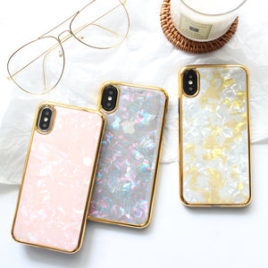 Fashion Golden Foil Bling Case For iPhone Series