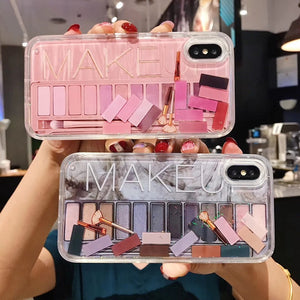 Fashion Cosmetic Makeups Lipstick Perfume Quicksand Case For iPhone Series