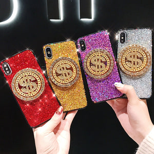 Glitter Fashion Big Money Dollar Case For iPhone Series