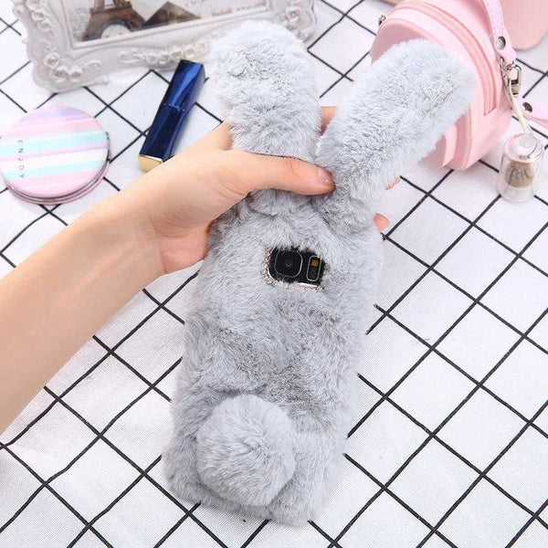 3D Cute Soft Fluffy Rabbit Warm Case for Samsung Galaxy S6-S9 Plus | VIVITODAY