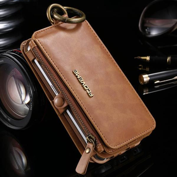 Retro Leather Card Wallet Phone Bag Cases For Samsung Galaxy Series