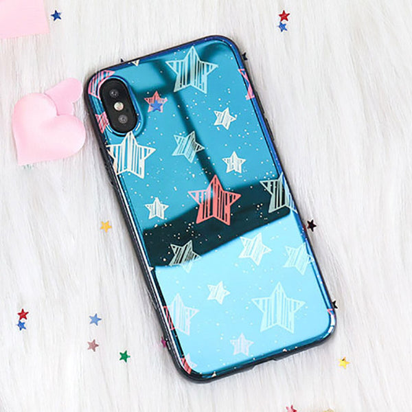 Cartoon Blu-Ray Mirror Phone Case For iphone  6 6S Plus 7 8 Plus X | VIVITODAY