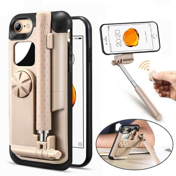 Selfie Stick Phone Cases For iPhone 7 Case Cover Portable Foldable For iPhone 7 8 Plus Case Stretch Handheld Bluetooth | VIVITODAY