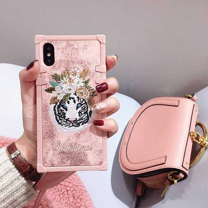 Flamingo Embroidery Flower Phone Cases for iPhone 8 7 6 S Plus X | VIVITODAY