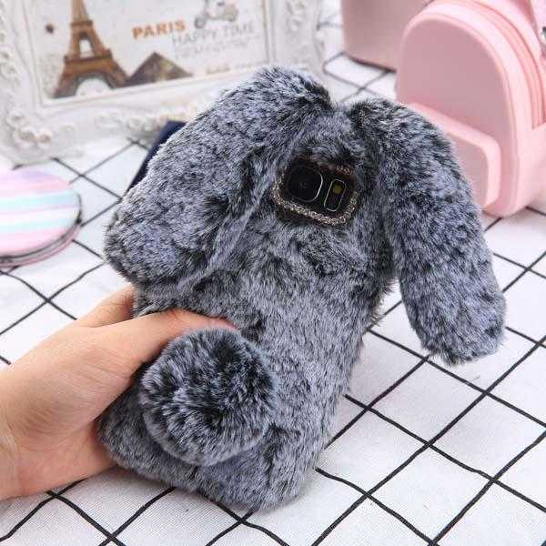 Luxury Cute Rabbit Furry Case for iPhone 6-X | VIVITODAY