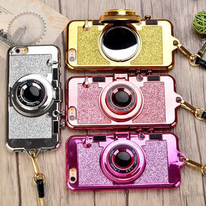Sparkle Camera Mirror Stand Phone Case for iPhone 6-X | VIVITODAY
