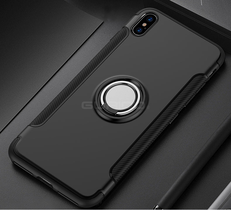 Luxury Shockproof Case Metal Ring Holder Armor Phone Cover For iphone 6 6S 7 8 Plus X | VIVITODAY