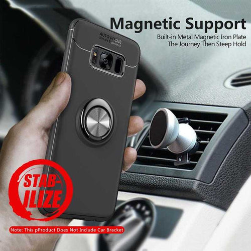 Car Holder Stand Magnetic Bracket Finger Ring TPU Case For SamsungNote 8 S8 S9 Plus | VIVITODAY