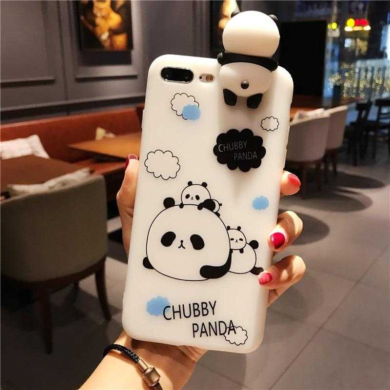 Cute 3D Cartoon Panda Case + Screen Protector for iPhone 6-8 Plus | VIVITODAY
