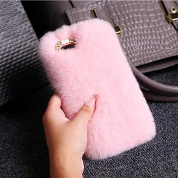 Cute Fluffy Rabbit Fur Case for iPhone 6-X | VIVITODAY
