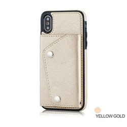 Luxury Leather Wallet Case with Strap for iPhone 6-XS Max | VIVITODAY