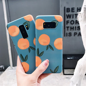 Cartoon Summer Fruit Orange Case For Samsung Galaxy Series
