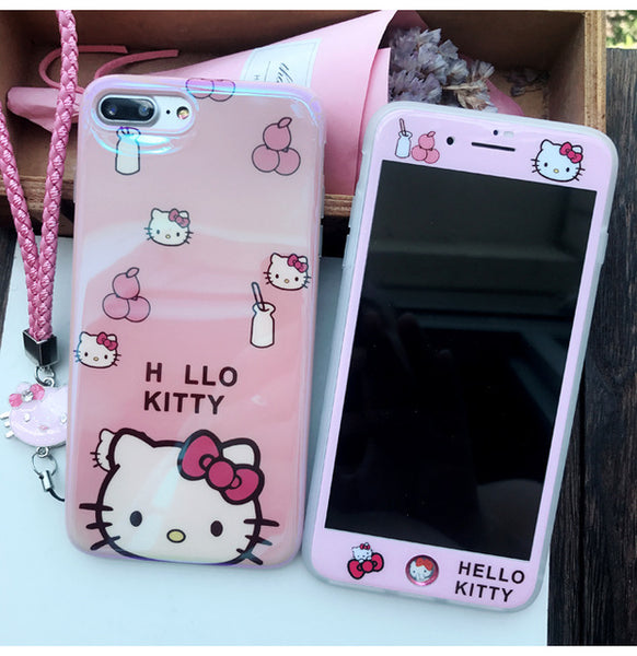 the latest 9c0c2 b9562 Blu-ray Hello Kitty Case with Film+Strap+Home Sticker For iPhone X - 6