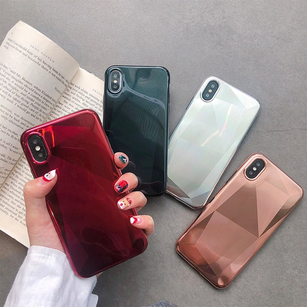 Crystal Plating Mirror Cases for iPhone 6-XS Max
