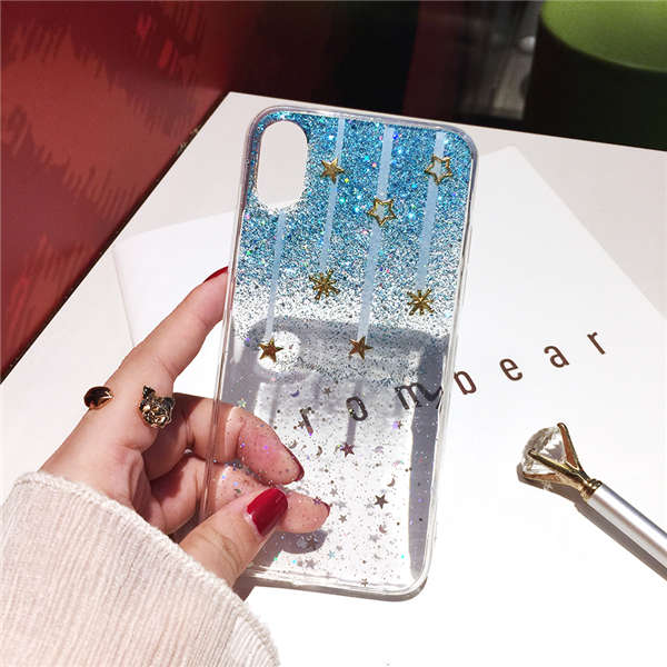 Transparent Glitter Meteor Star Cases For iPhone 6-Xsmax | VIVITODAY