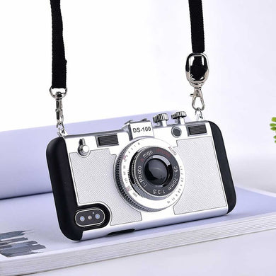 3D Retro Camera Cases With Lanyard Strap For iPhone XS MAX-6 | VIVITODAY