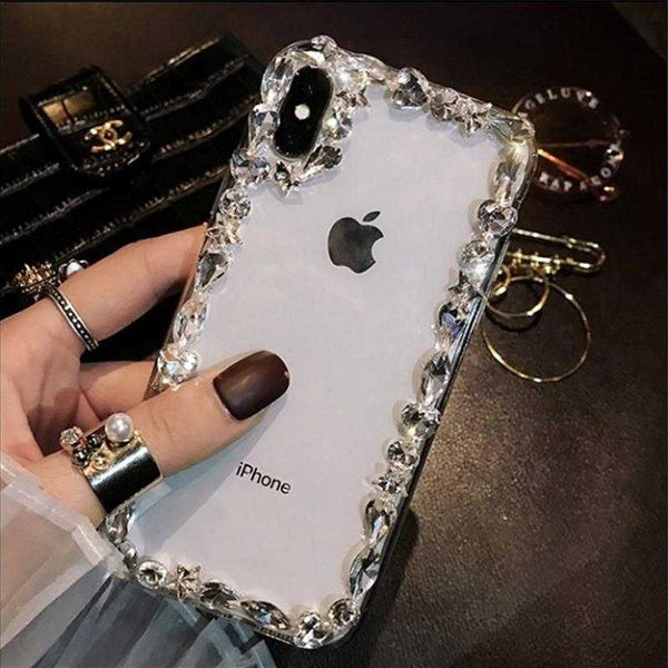 Bling Transparent Diamond Star Rhinestone Jeweled Cover Case for iPhone 6-Xsmax | VIVITODAY