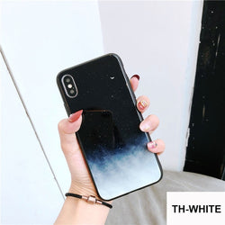Cute Aurora Mirror Starry Sky Case for iPhone 6-XR XS Max