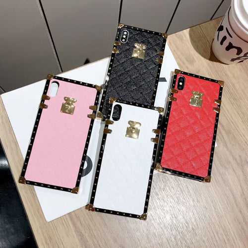Luxury Lambskin PU Leather Case For iPhone and Samsung Galaxy Series