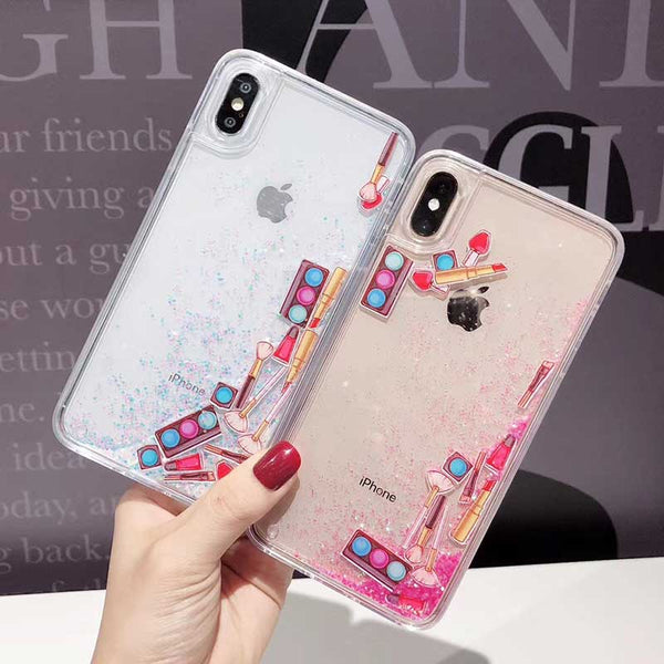 Liquid Quicksand Makeup Accessories Case For iPhone 6-XS Max XR