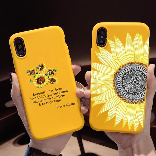 Yellow Daisy Sunflower Floral Flower Case For iPhone Series