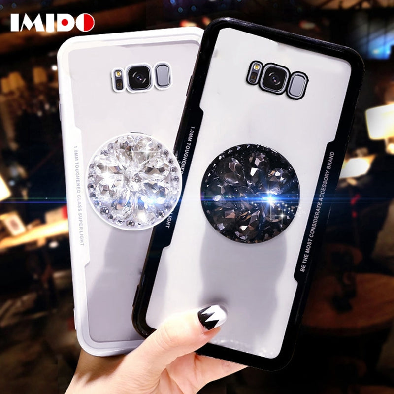 Glitter Transparent Airbag Diamond Case For Samsung Galaxy Note 8 S7-S9+