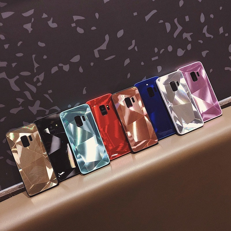 3D Diamond Texture Case For Samsung Galaxy S 7-9 Plus Note 8-9