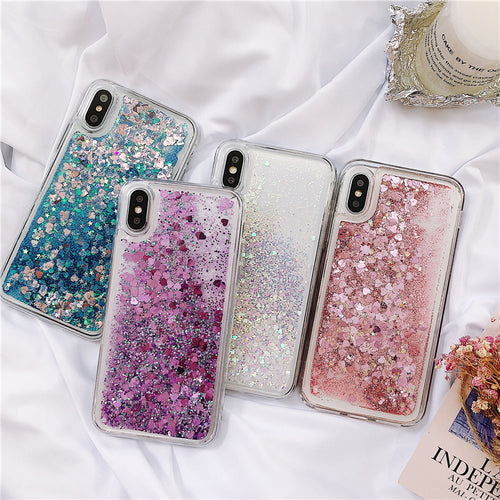 Colorful Glitter Quicksand Case for Samsung S 7-10 Plus Note 8-9