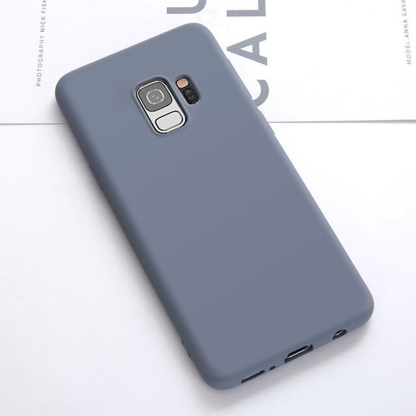 Luxury Soft Liquid Silicone Cases For Samsung Galaxy  S8-S10 Plus S10 lite Note 8-9
