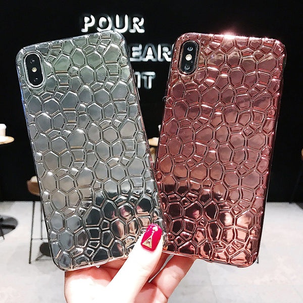 3D Beauty Plating Laser Glossy Case For iPhone Series
