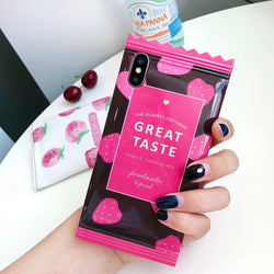Cute 3D Strawberry Candy Girl Series Case For iPhone Series