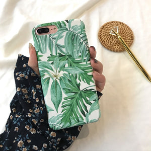 Frosted Touch Leaf Phone Case  for iPhone 6 - XR XSMAX