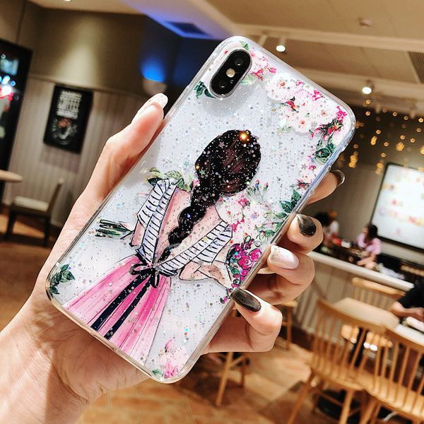 Beautiful Girl  Soft TPU Case for iPhone 6-X XS