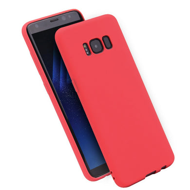 Matte Bare Skin Feel Solid Silicone Case for Samsung S7-S10 Plus