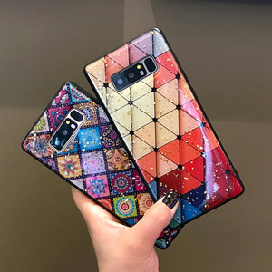 Glossy Rhombus Pattern Case For Samsung Galaxy Series