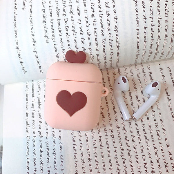 Cartoon Love Heart Protective Cover for AirPods