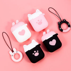 Cute Cat Claw Shockproof Protective Cover With Anti-lost Ring Cover For AirPods