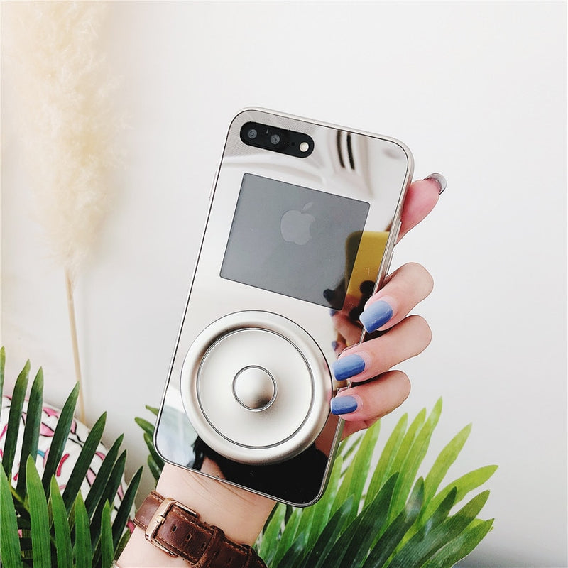 Fashion Acrylic Mirror Player Case For iPhone Series