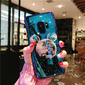 Laser Cute Planet Moon Case For Samsung Galaxy Series