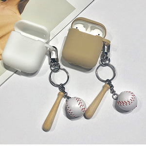 Fashion Baseball Protective Cover With Cute Hook For AirPods