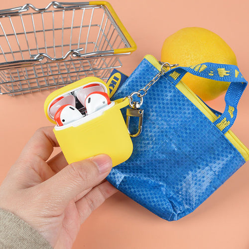 Cute Earphone Case With Anti-lost Woven Bag For AirPods